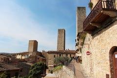 San Gimignano Italy village royalty free stock photo