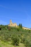 San Gimignano jest małym średniowiecznym wzgórza miasteczkiem w Tuscany Zdjęcie Royalty Free