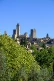 San Gimignano jest małym średniowiecznym wzgórza miasteczkiem w Tuscany Zdjęcia Stock