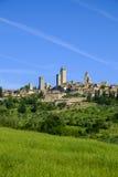 San Gimignano jest małym średniowiecznym wzgórza miasteczkiem w Tuscany Obraz Royalty Free