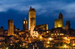 San Gimignano medieval city, Tuscany Stock Image