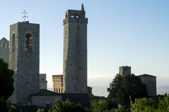 San Gimignano. The medieval towers of the Tuscan village Royalty Free Stock Photos