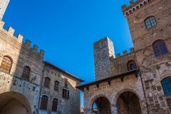 San Gimignano medieval town royalty free stock image