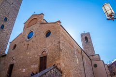 San Gimignano medieval town royalty free stock images