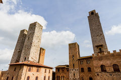 San Gimignano is a medieval town in Tuscany Royalty Free Stock Photo