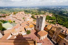 San Gimignano is a medieval town in Tuscany Stock Photos