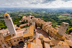 San Gimignano is a medieval town in Tuscany Stock Image