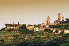 San Gimignano medieval Tuscan village, italy Stock Images