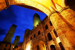 San Gimignano Medieval Village stock photos