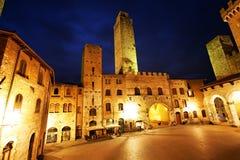 San Gimignano Medieval Village Stock Images
