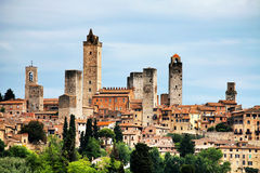 San Gimignano Medieval Village Stock Images