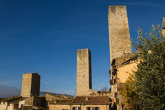 San Gimignano Medieval Village, Italy, Europe Stock Photography