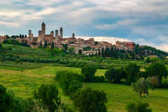 San Gimignano Medieval Village, Italy, Europe Stock Images