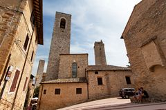 San Gimignano ` middeleeuws Manhattan `, Toscanië, Italië Stock Fotografie