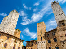 San Gimignano. In a nice weather day Royalty Free Stock Photos