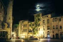 San Gimignano. At night. Tuscany, Italy Stock Images