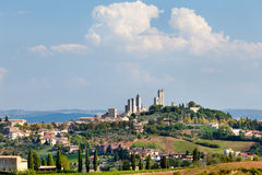 San Gimignano old italian town. View of San Gimignano old italian town in Tuscany province of Italy Royalty Free Stock Images