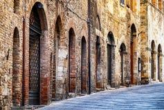San gimignano. Old town of san gimignano - tuscany - italy Stock Photography