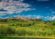 San Gimignano, one of the nicest villages of Italy Royalty Free Stock Images