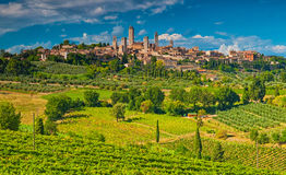 San Gimignano, One Of The Nicest Villages Of Italy Royalty Free Stock Photos