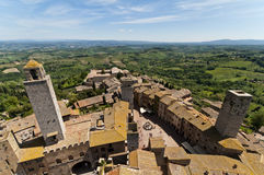 San Gimignano panorama Fotografering för Bildbyråer