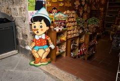 San Gimignano Pinocchio souvenir Royaltyfri Bild