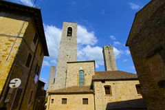 San Gimignano's Medieval Towers. In Tuscany royalty free stock image