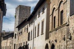 San Gimignano, Siena, at morning Royalty Free Stock Photos