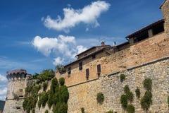 San Gimignano Siena, på morgonen Arkivbilder