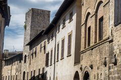 San Gimignano, Siena, przy rankiem Zdjęcia Royalty Free