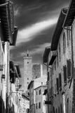 San Gimignano, Siena, przy rankiem Fotografia Royalty Free