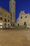 San Gimignano, Siena, Toscânia, Italia, Europa, o quadrado da catedral Fotos de Stock
