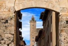 San Gimignano - Siena Tuscany Italy Fotos de Stock