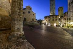 San gimignano, siena, tuscany, italy, europe, the cathedral square Royalty Free Stock Photo