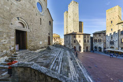San gimignano, siena, tuscany, italy, europe, the cathedral square Stock Image