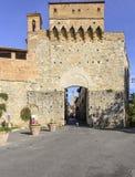 San gimignano, siena, tuscany, italy, europe, the door st. john Stock Images