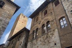 San Gimignano, Siena, at morning Stock Photos