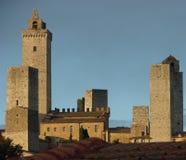 San Gimignano skyline. San Gimigniano skyline from unusual angle, Tuscany, Italy Royalty Free Stock Image