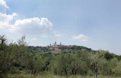 San Gimignano a small walled medieval hill town Royalty Free Stock Photo