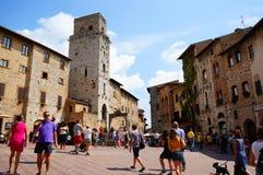 San Gimignano square Royalty Free Stock Photo