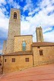San Gimignano, square and towers. Tuscany, Italy, Europe. Royalty Free Stock Photos
