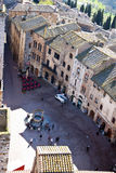 San Gimignano square - Tuscan italy Stock Photography