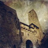 San Gimignano-Stadt in Toskana, Italien Stockbilder