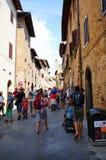 San Gimignano street Stock Photography