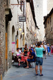 San Gimignano street Stock Images
