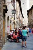 San Gimignano street Stock Images
