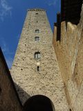 San Gimignano Tall Tower Royalty Free Stock Photography