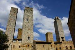 San Gimignano torn, Italien royaltyfria bilder