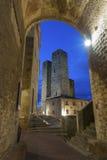 San Gimignano, Toscânia, Italia Fotografia de Stock