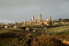 San Gimignano (Toscana) Fotografie Stock Libere da Diritti